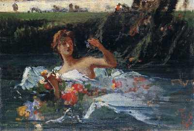F. Faruffini - La morte di Ofelia - 1864-65